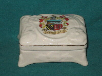 U/M Rectangular Pillbox & Lid - CARBIS BAY [Cornwall] crest
