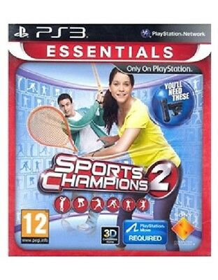 Sports Champions 2 (Sony PS3) Playstation Move Golf Tennis Bowling Game Complete