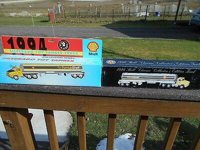 Vintage Shell toy tanker trucks - 1994 & 1996 - w/boxes - Gas & Oil advertising