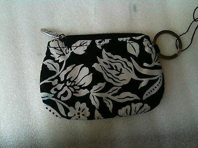 Marie Lifestyle Collection Wringlet Zip around Wallet Black and White