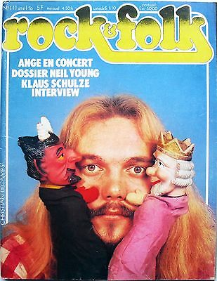 Rock Folk 111 ANGE NEIL YOUNG KLAUS SCHULZE BOOGALOO BAND THE WHO KEITH MOON