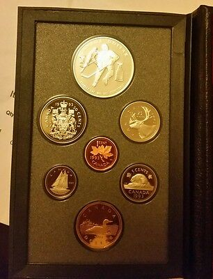 canadan 1993 double dollar proof coin set 925  silver $