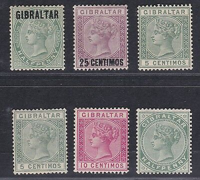 Gibraltar - Small Selection Of Qv Stamps - Cat £50 - Mm