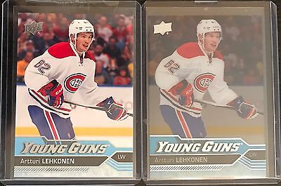 2016-17 Ud Artturi Lehkonen Young Guns Rc Rookie & Clearcut Acetate Parallel