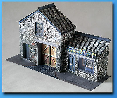 Victorian Village Undertaker 7mm Scale Card Model Kit ideal for O Gauge Railways