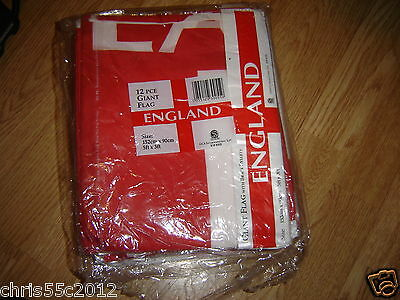 PACK OF 12 ENGLAND FLAGS 5ft x 3ft BRAND NEW