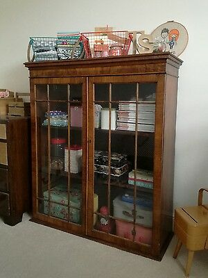 antique glass display cabinet vintage retro sewing craft
