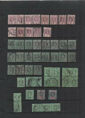 Nigeria 1914/32 Gv Study Lot On 4 Pages