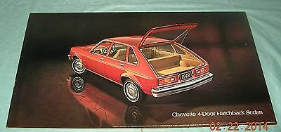 78 1978 Chevy Chevette GM Dealer Showroom Poster