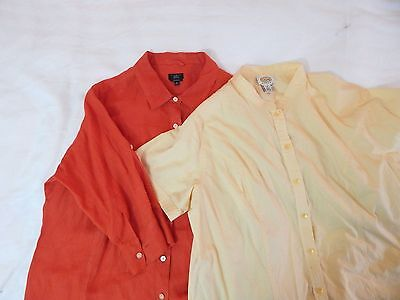 womens multi colored LOT OF TWO TALBOTS shirts top blouse casual plus 2X