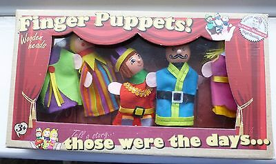 Finger Puppets With Wooden Heads