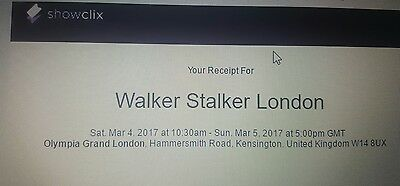 2x saturday the 4th of march tickets to walker stalker in london GA