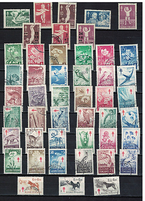 15 complete TUB 1947-65, CV.100€,fine  cancelled