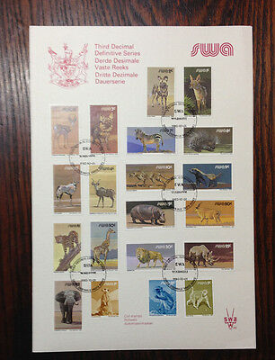 South West Africa 3rd DDS Coil stamps with envelope - 2 photos.
