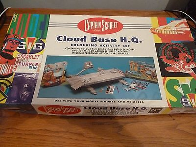 Captain Scarlet & Mysterons CLOUD BASE HQ  Colouring Activity Set Pic Toys 1993.