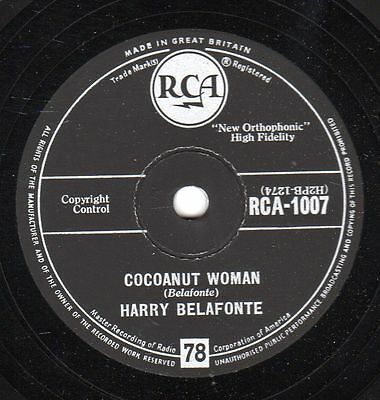 Harry Belafonte : Cocoanut Woman / Island in the sun      Klassiker !