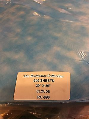 25 CLOUD THICK TISSUE WRAPPING PAPER LARGE SHEETS 20x30 SUPERIOR QUALITY