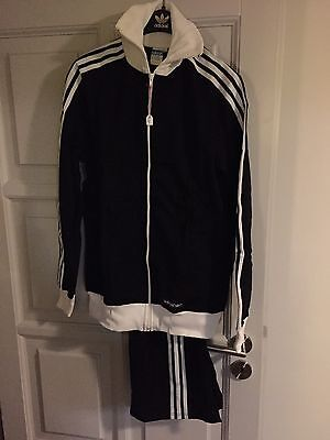 Vintage Adidas Track Suit 1970's Rare Made in West Germany D102 Deadstock