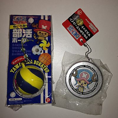 Rare One Piece Squishy Set Volley Ball And Silver Coin.