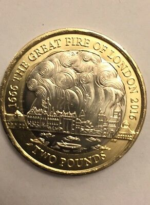 Great Fire Of London 2 Pound Coin Rare
