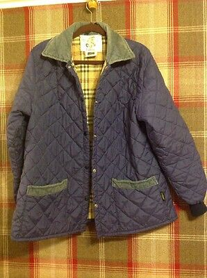 Vintage Quilted Riding Jacket From Lavenir - Size 44""