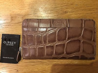 Brand New Osprey Real Leather Purse (croc Effect) RRP £85!