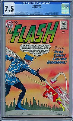 DC Comics FLASH #117 - CGC 7.5 OW-W Pages - VF- First CAPTAIN BOOMERANG