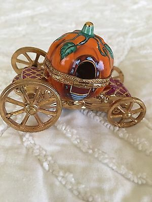Orange and Gold Cinderella Carriage Limoge