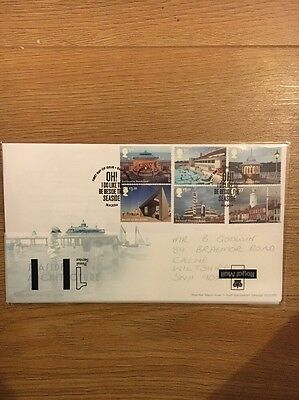 GB FDC 2014 Seaside Architecture miniature First Day Cover,  Eastbourne Postmark