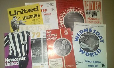 Joblot Leicester City Away Football Programmes 1971 1972 Division One Liverpool