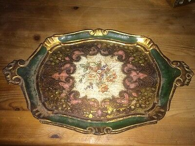Vintage Antique? Wood Tray Possibly Made In Italy