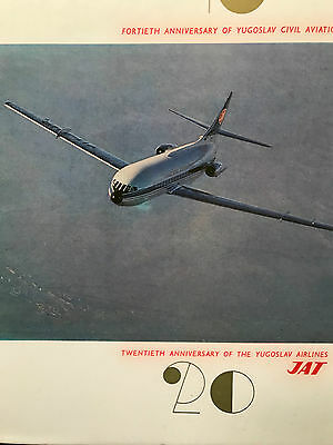 J.A.T. Yugoslav Airlines 20th Anniversary Book  Sud Aviation Caravelle 1967 JAT