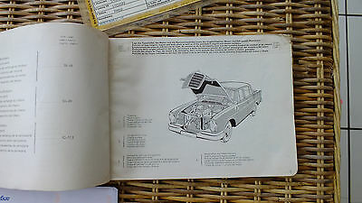 MERCEDES TYPE 220sb 1963 ILLUSTRATED PARTS CATALOGUE.
