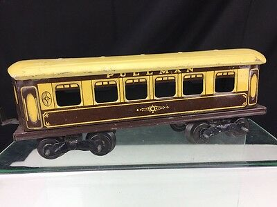 O Gauge Tinplate Brown Pullman Coach
