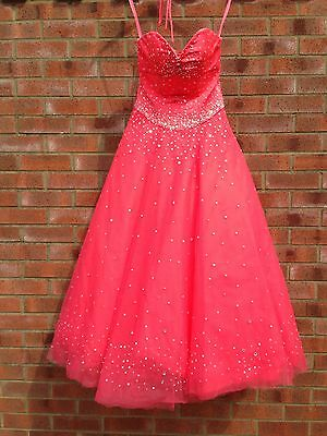 Mori Lee coral pink prom dress size 8