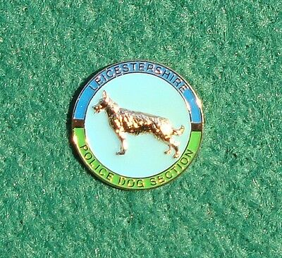 Leicestershire Constabulary Police DOG SECTION German Shepherd pin badge K9