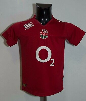 Boys England Rugby  Shirt Jersey Canterbury Red Size Age 12 Vgc