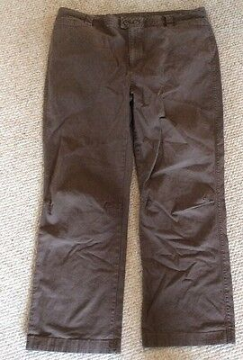 Woolrich Women's Plus Size 18 Pants Brown Hickory Inseam 30