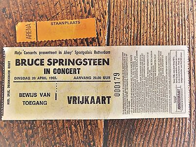 BRUCE SPRINGSTEEN collection:    GUEST ticket april 1993 show Rotterdam (holland