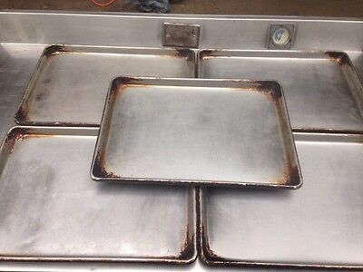 Stainless Steel Commercial Restaurant Baking Trays. Lot Of 5
