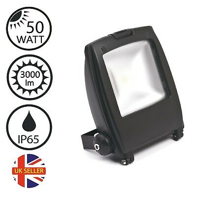 50W COB LED FloodLight, Daylight, Black, Outdoor Security Commercial industrial