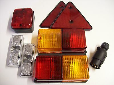 Trailer Light Kit with PEREI Combination Lights Plus fog & Front markers lights