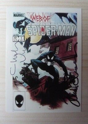 Web of Spider-Man #1 Trading Card Signed Vess & Simonson / M *RARE* Marvel