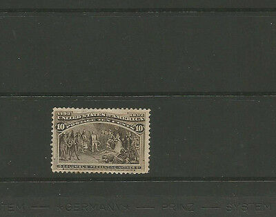 "USA, #237 mint 10c black brown ""Columbian Exposition"" issue of 1893"