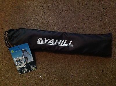 Brand New Yahill Collapsible Duralumin Trekking Pole Hiking Walking Black/green