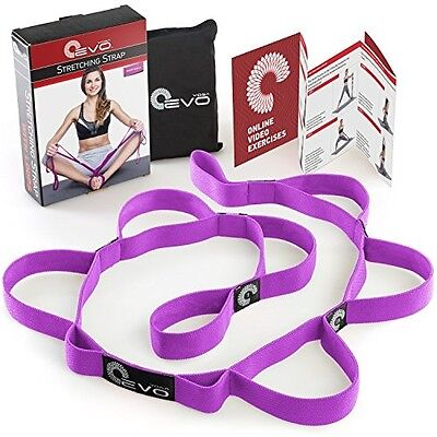 Stretching Strap With 10 Elastic Loops + EBook and 35 Online Stretch Out Video