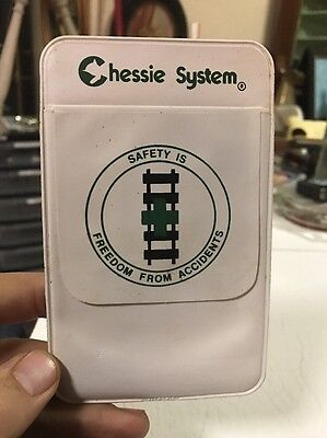 Vintage Chessie System C&O Railroad Safety Pocket Protector