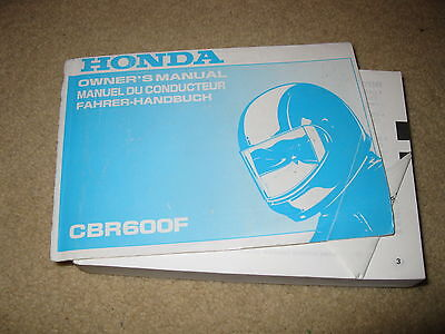 Honda Motorcycle Owners Manual - CBR600F