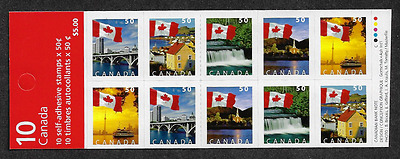 Canada -Booklet Pane of 10 (BK302) -Flags #2080a  -MNH