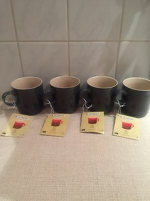 Le Creuset Set Of 4 12oz Mugs Grey In Colour Brand New With Tags